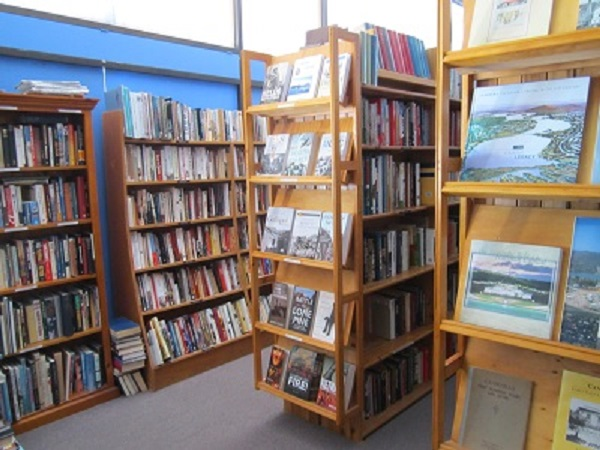 books on bookshelf australian authors bookseller