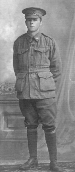 David's grandfather: Perce Brittain, 1916